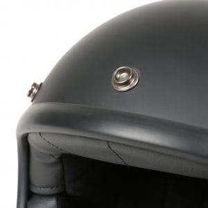Helm -DMD Jet Vintage- Jethelm, vintage – Matt Black – L (59cm) 3333261L