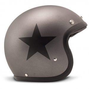 Helm -DMD Jet Vintage- Jethelm, vintage – Star Grey – L (59cm) 3333266L