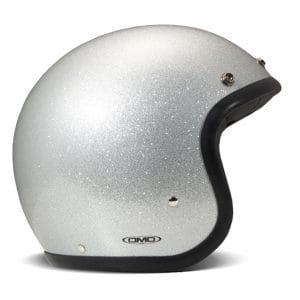 Helm -DMD Jet Vintage- Jethelm, vintage – Glitter Silver – S (55-56cm) 3333704S