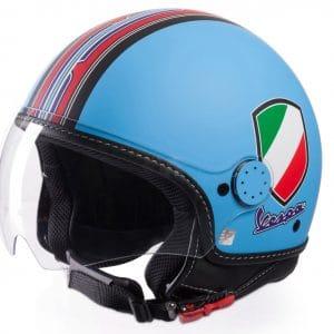 Helm -VESPA Jethelm V-Stripes- blau rot (Casco Azure)- XS (52-54 cm) 606524M01A