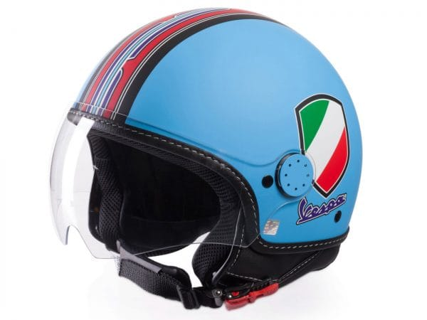 Helm -VESPA Jethelm V-Stripes- blau rot (Casco Azure)- S (55-56 cm) 606524M02A
