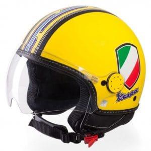 Helm -VESPA Jethelm V-Stripes- gelb lila (Casco Yellow)- M (57-58 cm) 606524M03Y