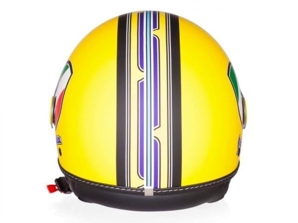 Helm -VESPA Jethelm V-Stripes- gelb lila (Casco Yellow)- L (59-60 cm) 606524M04Y