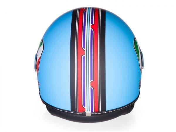 Helm -VESPA Jethelm V-Stripes- blau rot (Casco Azure)- XL (61-62 cm) 606524M05A