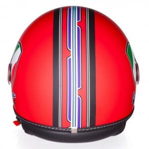 Helm -VESPA Jethelm V-Stripes- rot schwarz (Casco Red)- XL (61-62 cm) 606524M05R