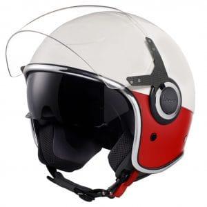 Helm -VESPA VJ- Jethelm, Bianco / Rosso Opaco – XS (52-54cm) 606656M01WR