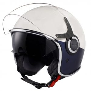 Helm -VESPA VJ- Jethelm, Bianco / Blu Opaco – L (59-60cm) 606656M04WB