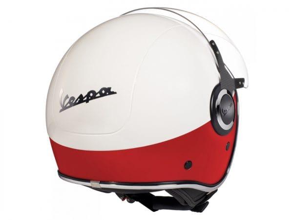 Helm -VESPA VJ- Jethelm, Bianco / Rosso Opaco – L (59-60cm) 606656M04WR