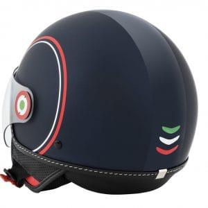 Helm -VESPA Jethelm Modernist- ABS- blau rot weiß- XS (52-54 cm) 606739M01MB