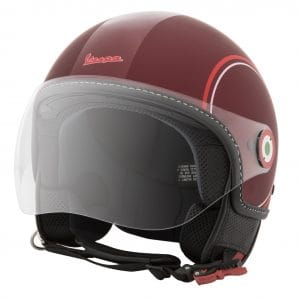 Helm -VESPA Jethelm Modernist- ABS- rot weiß- L (59-60 cm) 606739M04MR
