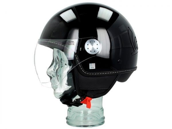 Helm -VESPA Visor 3.0- schwarz lucido (094) S (55-56cm) 606783M02B