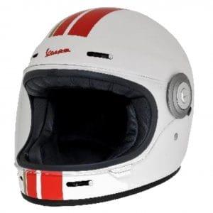 Helm -VESPA Integralhelm- Racing Sixties- weiß rot- M (57-58 cm) 607527M03WH