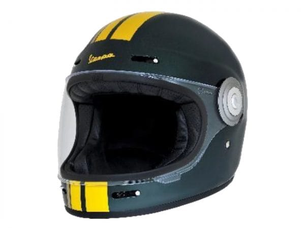 Helm -VESPA Integralhelm- Racing Sixties- grün gelb- L (59-60 cm) 607527M04GN