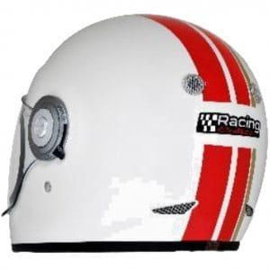 Helm -VESPA Integralhelm- Racing Sixties- weiß rot- L (59-60 cm) 607527M04WH
