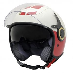 Helm -VESPA Jethelm VJ- Racing Sixties- weiß rot- M (57-58 cm) 607530M03WH