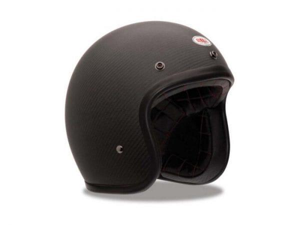 Helm -BELL Custom 500 Carbon, Matte- Jethelm, schwarz – M (57-58 cm) BL600004045M