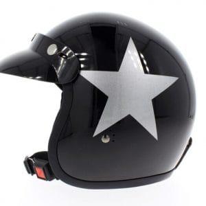 Helm -BANDIT Star Jet- schwarz – XS (53-54 cm) BN11132