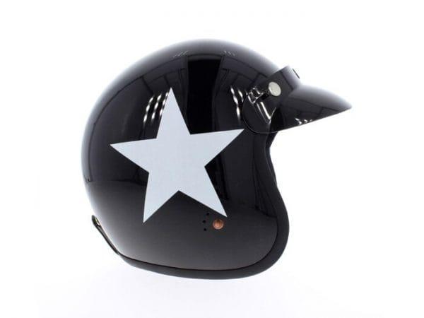 Helm -BANDIT ECE Star Jet- schwarz / weiss – S (55-56 cm) BNE1813