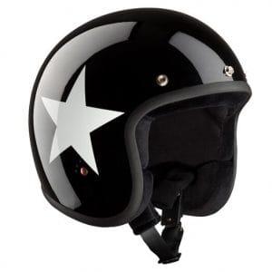 Helm -BANDIT ECE Star Jet- schwarz / weiss – XXL (63 cm) BNE1817