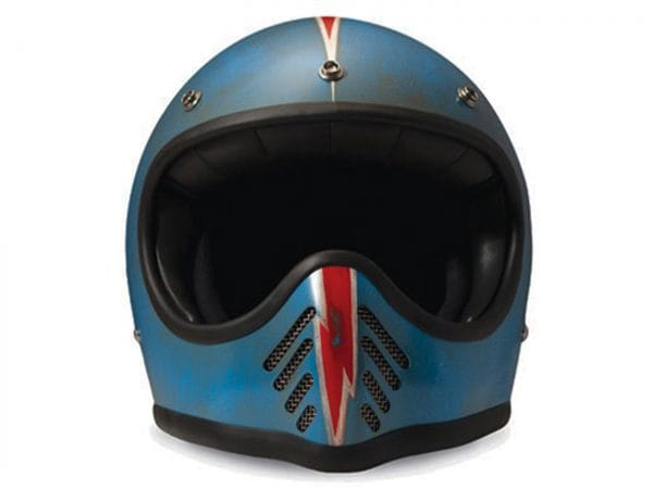 Helm -DMD Handmade- Motocrosshelm, vintage – Arrow Blue – L (59-60cm) DMD111L