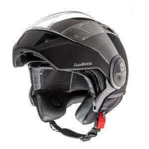Helm -HELMO MILANO- Full Jethelm, FuoriRotta, matt black – L (58cm) HM0120020L