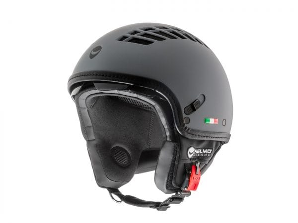 Helm -HELMO MILANO- Demi Jet, ViaColVento, rubber smoke grey – XS (53-54cm) HM10010XS