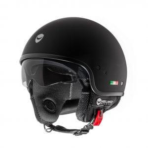 Helm -HELMO MILANO- Demi Jet, Puro, rubber black – L (58cm) HM30020L