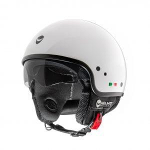 Helm -HELMO MILANO- Demi Jet, Puro, pearl white – XL (59cm) HM30040XL