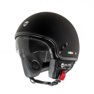 Helm -HELMO MILANO- Demi Jet, Puro Stile, rubber black – XS (53-54cm) HM40020XS