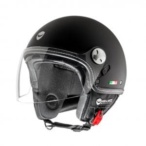 Helm -HELMO MILANO- Demi Jet, Eos, rubber black – M (57cm) HM70020M