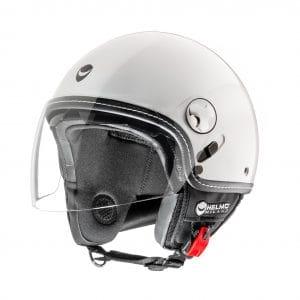 Helm -HELMO MILANO- Demi Jet, Eos, pearl white – L (58cm) HM70040L