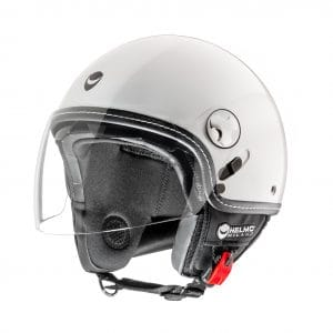 Helm -HELMO MILANO- Demi Jet, Eos, pearl white – S (55-56cm) HM70040S