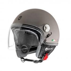 Helm -HELMO MILANO- Demi Jet, Eos, rubber anthracite – L (58cm) HM70050L