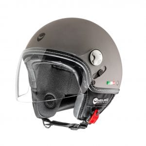 Helm -HELMO MILANO- Demi Jet, Eos, rubber anthracite – XL (59cm) HM70050XL
