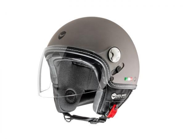 Helm -HELMO MILANO- Demi Jet, Eos, rubber anthracite – XS (53-54cm) HM70050XS