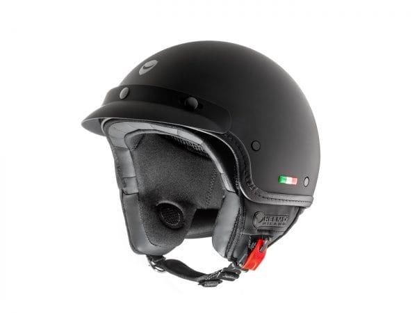 Helm -HELMO MILANO- Demi Jet, FuoriPorta, matt black – S (55-56cm) HM90020S