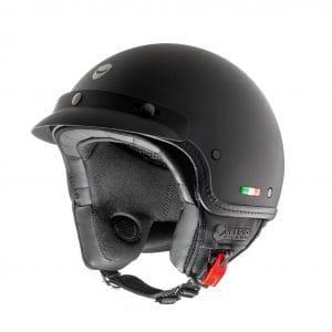 Helm -HELMO MILANO- Demi Jet, FuoriPorta, matt black – XS (53-54cm) HM90020XS