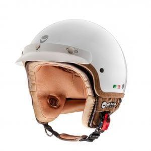 Helm -HELMO MILANO- Demi Jet, FuoriPorta, pearl white – L (58cm) HM90040L