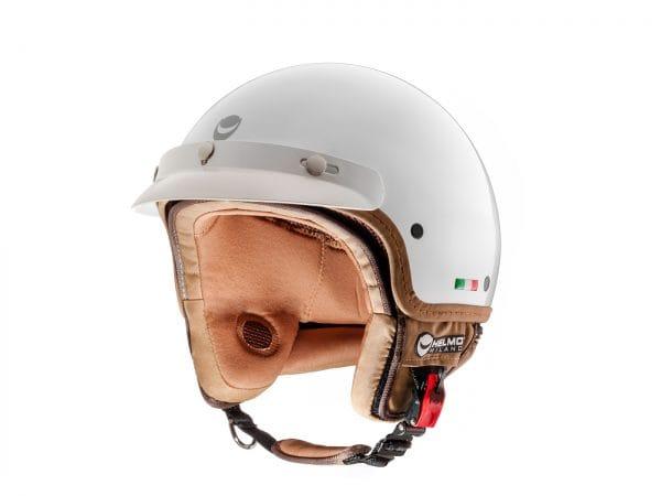 Helm -HELMO MILANO- Demi Jet, FuoriPorta, pearl white – S (55-56cm) HM90040S