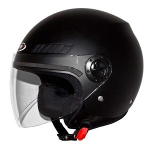 Helm -SHIRO SH62 GS, Jet-Helm- schwarz – M (57-58 cm) SI062010M