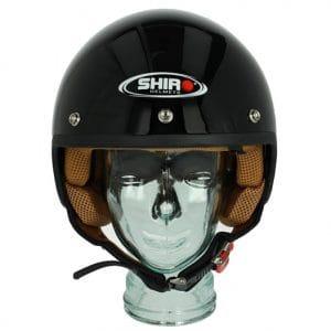 Helm -SHIRO SH206, Jet-Helm- schwarz – M (57-58 cm) SI206010M