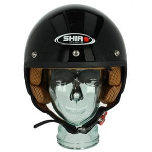 Helm -SHIRO SH206, Jet-Helm- schwarz – S (55-56 cm) SI206010S