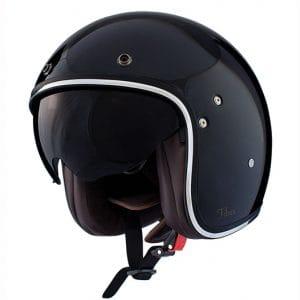 Helm -SHIRO SH235 Fiber, Jet-Helm- schwarz – L (59-60 cm) SI235210L